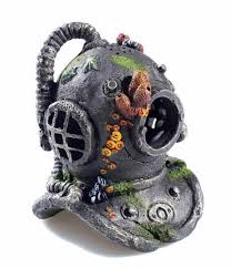 classic sea divers helmet aquarium ornament fish tank