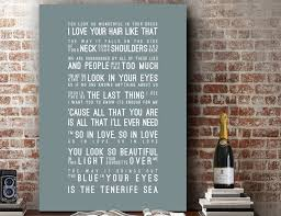 ed sheeran lyrics tenerife sea music wall art song lyrics home