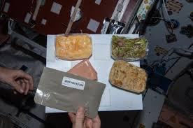 astronauts celebrate thanksgiving aboard international space