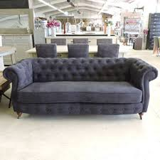 canapé chesterfield velours les salons