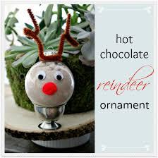 chocolate reindeer ornament craft tonya staab