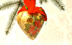 decoupage tutorial heart shaped bauble christmas decoration