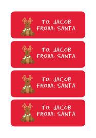 personalized santa labels santa labels for christmas custom