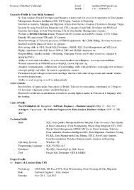 Business Analyst Profile Resume Obiee 11g Developer Resume Free Resume Example And Writing Download