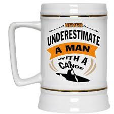 Cool Cup A Man With A Canoe Cup Cool Canoe Mug Beer Mug U2013 Premium Fan Store