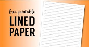 free printable lined handwriting paper thanksgiving writing paper