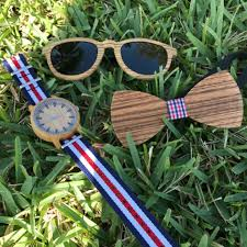 Wooden Groomsmen Gifts Wooden Groomsmen Gifts Sunglasses Bowties Watches Set For Sale