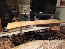 Oak Slab Table by Oak Slab Coffee Table Build Album On Imgur