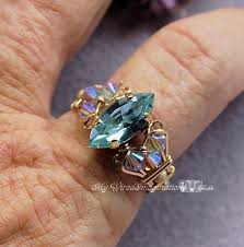 swarovski rings green images Swarovski alexandrite hand crafted ring wire wrapped june jpg