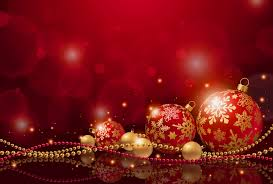red christmas background with christmas balls gallery