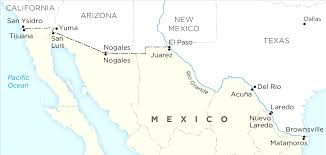 united states map with popular cities map of usa and mexico with cities major tourist endear us