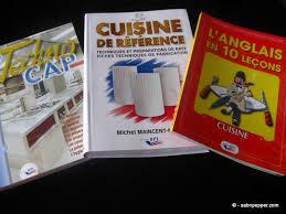 livre de cuisine cap reconversion professionnelle sab n pepper