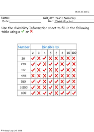 divisibility worksheets worksheets