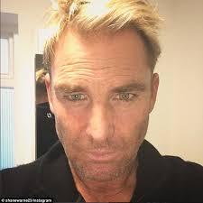shane warne hair transplant shane warne 46 reveals his salt and pepper beard as he posts