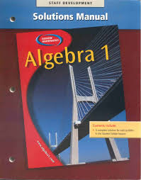 glencoe mathematics algebra 1 solutions manual glencoe mcgraw