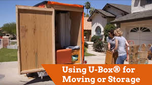 using u box for moving or storage youtube