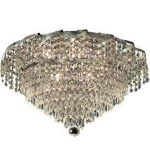 chrome flush mount light elegant lighting eca4f20c ss belenus 8 light 20 inch chrome flush