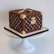 louis vuitton hat box luggage suitcase sculpted cake by fluffy
