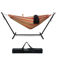 zeny 9 u0027 double hammock with stand combo steel space saving w