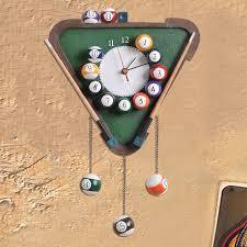 billiards wall clock for interior u2013 wall clocks