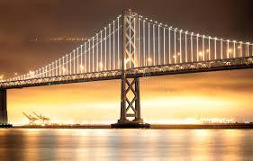 Bay Bridge Lights Bay Bridge Lights San Francisco And Oakland Stock Photo Image