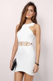 cheap white bodycon dress strappy dress 17 tobi us