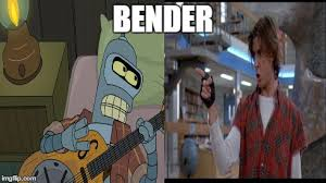 Futurama Meme Maker - image tagged in memes bender breakfast club futurama guitar imgflip