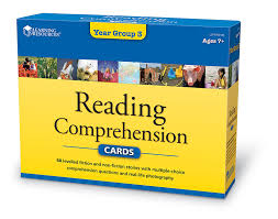 learning resources reading comprehension cards year group 3