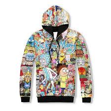 rick and morty full print hoodie cosmos gender and sweatshirt
