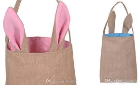 easter bags 2018 cotton linen canvas easter egg bag rabbit bunny ear
