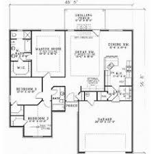Cottage Floor Plans One Story One Story Ranch Style House Plans One Story 3 Bedroom 2 Bath