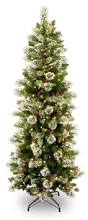 thin christmas tree christmas lights decoration