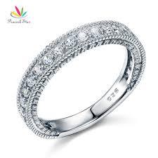 vintage sterling rings images Peacock star solid 925 sterling silver wedding band eternity ring jpg