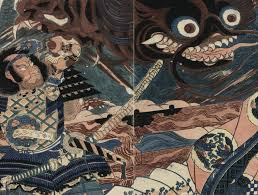 using 19th century japanese prints as wallpaper eazywallz vintage japanese samurai battle wall mural
