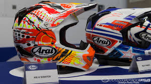 cool motocross helmets how arai makes motorcycle helmets photos motorcycle usa