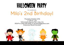 kids halloween birthday party invitations