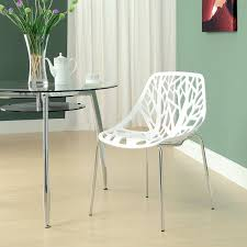 White Plastic Dining Chair Balloon Chair For Living Room Mid Century Style Dining Chairs