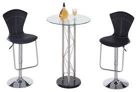 Glass Bar Table Global Furniture Usa M208bt 3 Glass Bar Table Set With