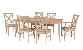 mission dining room furniture astonishing ideas unpainted wood furniture trendy design