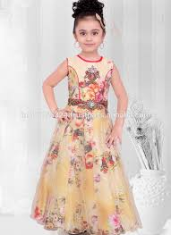 2016 kids wear children frocks designs peach party wear indian