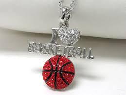 wholesale love necklace images Wholesale whitegold plating crystal stud i love basketball pendant JPG