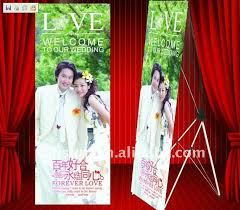 design x banner wedding screen printing x banner stand china mainland banner stands