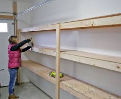Easy Wood Shelf Plans by How To Build Garage Shelving Easy Cheap And Fast Youtube