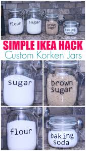 Ikea Kitchen Canisters by Ikea Jar Hack Easily Customize Your Ikea Korken Jars