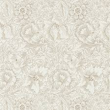 william morris u0026 co wallpaper pure poppy cream gold