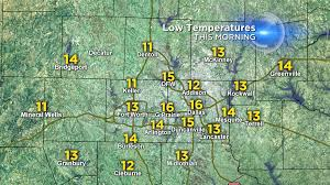 Dallas Fort Worth Area Map by Lowest Temperatures In Almost 3 Years Cbs Dallas Fort Worth