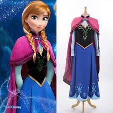 disney movie frozen princess anna cosplay costume handmade