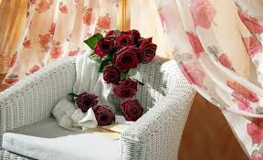 flower love romantic beautiful curtain room red vervet roses