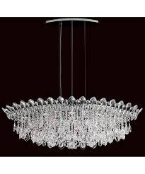 Schonbek Pendant Lighting Schonbek Tr4811 Trilliane Strands 45 Inch Wide 8 Light Large
