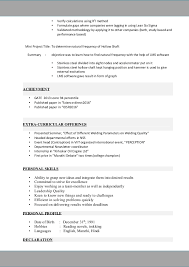 exle of a personal profile for resume trupti resume